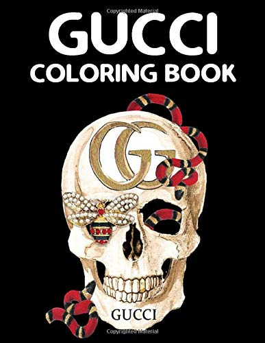 Gucci Coloring Book: Fashion Coloring Books for Girls and Women with Bags, Helmet, Shirt, Watch, Shoes of Gucci Coloring Pages