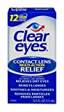 Clear Eyes Eye Drops, Contact Lens Multi-Action Relief, 0.5 oz