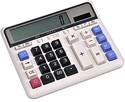 OFF Calculadora Estudio Científico Calculadoras solar grande botón calculadora de la oficina de negocios multifunción pantalla grande 12 pantalla digital de calculadora de oficina Productos de la tien