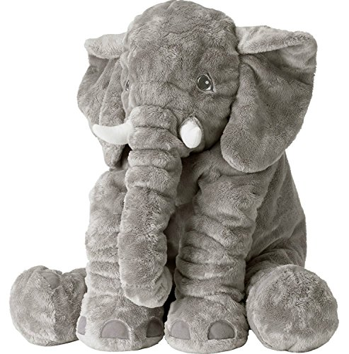 GRIFIL ZERO Big Elephant Stuffed Animal Plush Toy 25 Inches Cute XXL Size Grey Elephant Toy (Grayy)