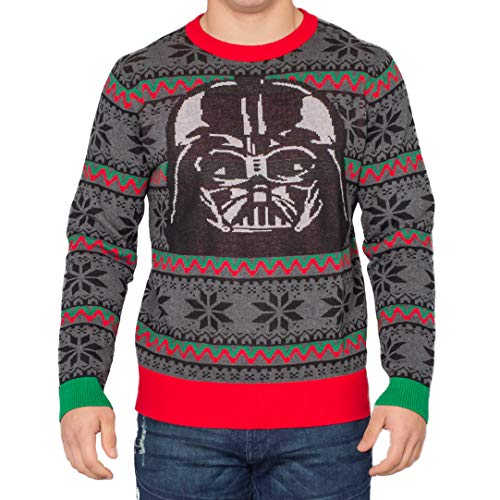 Star Wars Darth Vader Mask Ugly Christmas Sweater (Adult Large)