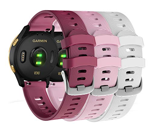 Garmin-Venu-GPS-Smartwatch-with-AMOLED-Display-and-Included-Wearable4U-3-Straps-Bundle