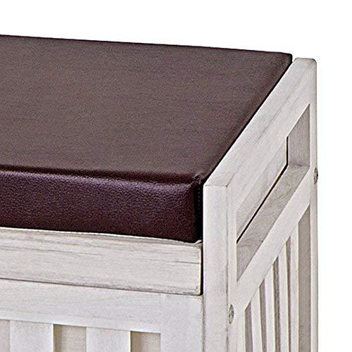 HAKU Möbel 26320 Bank, weiß gewischt, 65x33x46cm - 3