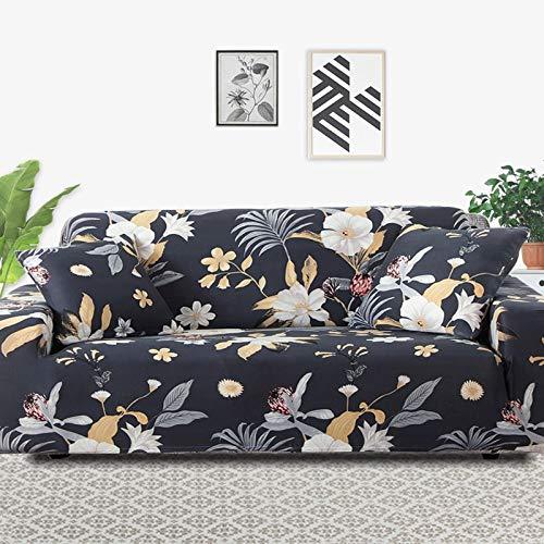 Funda de sofá elástica elástica, Toalla de sofá de algodón Puro, Funda de sofá Antideslizante y a Prueba de Polvo para Sala de Estar A5 de 2 plazas