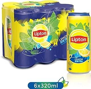 Lipton Ice Tea Lemon, Non-carbonated Iced Tea Drink, Cans, 6 x 320 ml