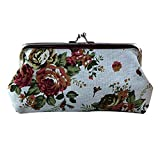 Amlaiworld Frauen Retro Flower kleine Brieftasche Hasp Handtasche Clutch Bag für 5,5 Zoll Telefon...