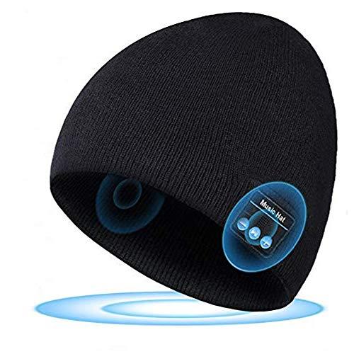 SOOFUN Geschenk für Männer und Frauen Bluetooth Mütze - Bluetooth 5.0 Bluetooth Mütze, Mütze mit Kopfhörern Bluetooth, Laufen, Skifahren, Radfahren Mütze mit Bluetooth Herren und Damen Geschenk