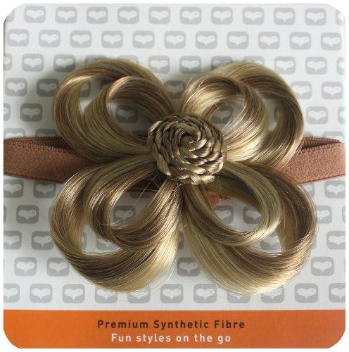 Love Hair Extensions - LHE/X/FLOWER/F/EB/10/22 - Fleur Bandeau en Elastique - Couleur 10/22 - Blond Cendre Moyen / Blond Plage