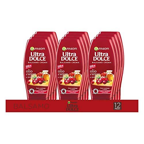Garnier Multi Pack Balsamo Ultra Dolce Olio di Argan e Mirtillo Rosso, Balsamo per Capelli...