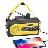 SUNGLIFE Solar Crank NOAA Weather Radio for Emergency with AM/FM, Flashlight, Reading Lamp