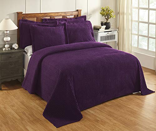 Better Trends Collection Julian Tagesdecke Twin Bedspread Pflaume
