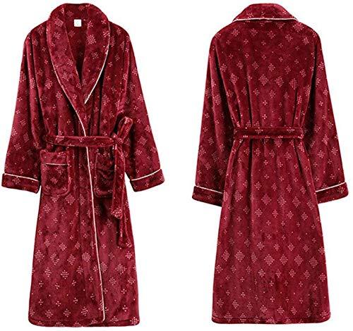 Hcxbb-21 paar jurk – herfst en winter versie dames jurk dikke flanel paar badjas fluweel koraal pyjama unisex super zachte blazers