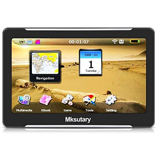 Navigationsgeräte für auto, GPS 7 zoll, PKW LKW Navi, Navigation fuer Auto Europa, Kostenloses Kartenupdate, Navigationsgerät mit Sprachsteuerung, hohe-Helligkeit Kapazitiver Touchscreen