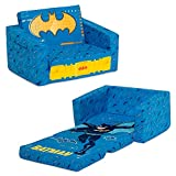 Batman Cozee Flip-Out Chair - 2-in-1 Convertible Chair to Lounger for Kids by Delta Children