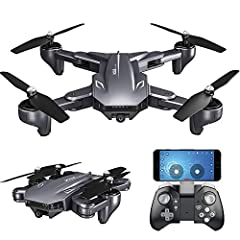 Functions: Up/down, turn left/right, forward/backward, sideward flight, LED light, altitude hold, 3D flip, headless mode, one key takeoff/landing, FPV WIFI, follow mode, path fly, gesture photography, MV editing. 4K front camera: The HD camera in the...