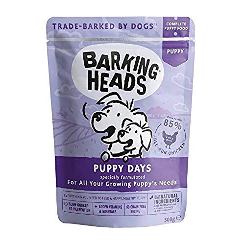 Barking Heads Welpenfutter Nass Getreidefrei - Welpentage - 85{79a47e8d8c9f8a5e36849767d040748b1f54ffc41e5999d5c11122c91cbbd571} Huhn, Hundefutter Junior, für starke Zähne und Knochen, 10 x 300g