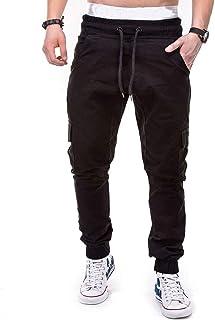 comprar comparacion Pantalones Hombre Moda Casual Multi-Bolsillo Trabajo Corta Pantalones Pants Jogging Color sólido Deportivo Pantalon Fitnes...