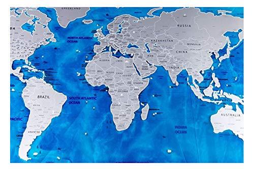 WIVION Karten Internationale Maps Riesen Kratzer, Kratzer für Reisende und Familien, abkratzen weltgrößte Poster Karte, Global Travel Gift World Tour,02