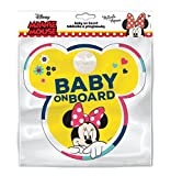 Disney 9613 Tableau avec Crochets Ventouse Baby on Board Minnie