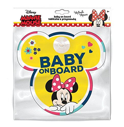 Disney 9613Tableau avec Crochets Ventouse Baby on Board Minnie