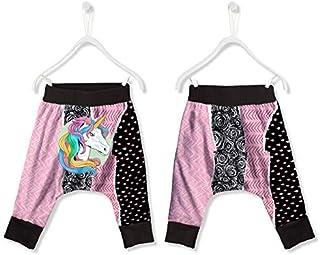 FISHIKII   Pantalón de chándal Baggy Unicornio Collage - 100% Poliéster - Todas Las Temporadas 2020 - Niña    