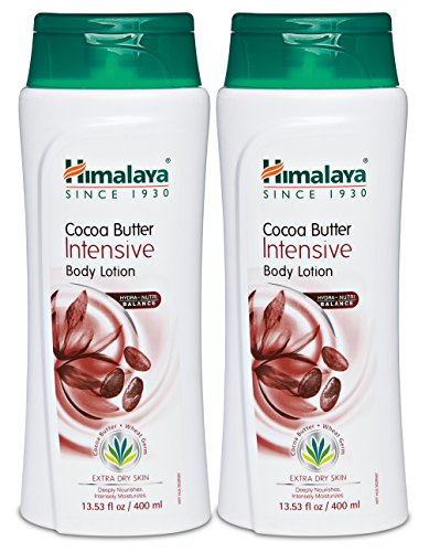 Himalaya Cocoa Butter Intensive Body Lotion for Extra Dry Skin, Deeply Moisturizes, Nourishes and Softens, 13.53 oz (400 ml) 2 PACK