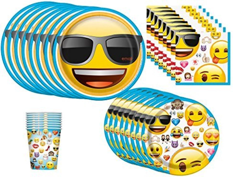 Emoji Birthday Party Supplies Bundle Pack for 8 by emoji