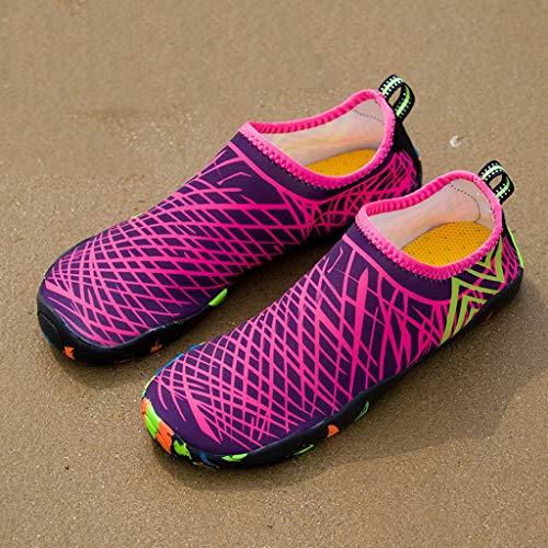 SHTAXJWXW Hombres ligeros Aqua Zapatos de agua descalzo Zapatos de agua para mujer Zapatillas para caminar de la playa de las mujeres de verano Calcetines de secado rápido de los hombres ( Size : 46 )