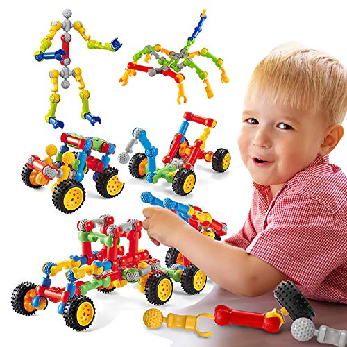 TYORORO おもちゃ 知育玩具 男の子 女の子 人気 積み木 組み立て DIYスケルトン構築ブロック 立体パズル 多様な組み合わせ 創造力 思考力 想像力 収納ケース付き 小学生 子供 幼児 出産祝い 入園 贈り物 誕生日プレゼント クリスマスプレゼン