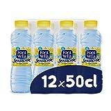 Font Vella Sensación, Agua Mineral Natural con Sabor Limón, 12 x 50cl