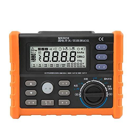 BXU-BG Digital Loop RCD Medidor de resistencia del multímetro de viaje de salida y hora actuales del detector con interfaz USB