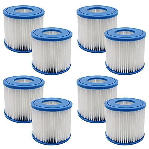 WuYan Pack de 8 filtros de tina para filtro POOLPURE Summer Escapes tipo D, para Summer Waves P57100102 SFS-350 RP-350 RP-400 RP-600 RX-600