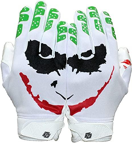 Repster Football Gloves - Tacky Grip Skin Tight Adult Football Gloves - Enhanced Performance Football Gloves Men - Jester Pro Elite Super Sticky Receiver Football Gloves - Adult Sizes (Large)