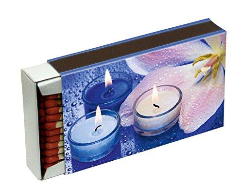 10 Schachteln à 50 Zündhölzer für Grill, Kamin und Kerzen Camino 10 cm (500 Streichhölzer), Motiv Kerzen KM Match Art. 1521