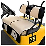 10L0L Golf Cart Newest Seat Cover/Seat Blanket with Storage Pocket fit Club Car DS Precedent & EZGO TXT RXV Models, Breathable Bench Seat Blanket with Warm Fluff for Winter Use