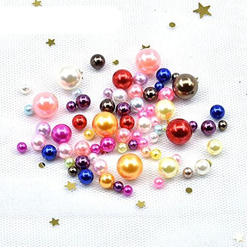 Tamaño de la mezcla: 3 – 10 mm, sin agujero, perlas de imitación de ABS redondas, cuentas hechas a mano, collar y pulsera para hacer joyas, color mezclado, 4 mm, 500 unidades