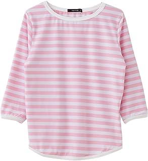 AquaGarage(アクアガレージ)7分袖ボーダーTシャツ