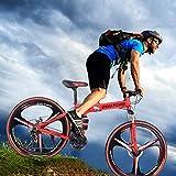 NANDIYNZHI 26 Inch Folding Mountain Bike with 21 Speed 3 Spoke Wheels and Shimano Shifter High...
