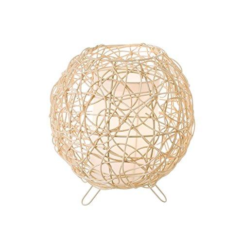 Lola Home - Lámpara de Mesa de Rattan Natural Beige étnico para Dormitorio France