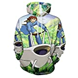 3D Printed Costume Coat Fashion Sweatshirts Unisex Hooded Pullover Nausicaa of The Valley of The Wind Casual Hoodies S