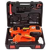 E-HEELP Cric électrique 12 V 5Ton,Hauteur de Levage 13,5 à 45 cm,14 Outils,Outil de Garage avec Cas de Stockage,Certification [CE + ISO9001]