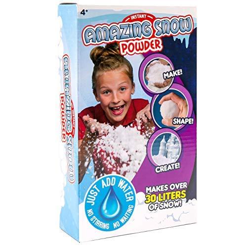 Instasnow Fluffy Instant Artificial Christmas Fake Magic Snow Powder Kids Xmas Fun Decoration - 400g