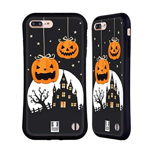Head Case Designs Zucche E Un Castello Personaggi Halloween Cover Ibrida e Sfondo di Design Abbinato Compatibile con Apple iPhone 7 Plus/iPhone 8 Plus