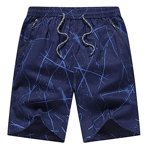 KCCCC Troncos de Natación para Hombre Pantalones Cortos de natación para Hombre Casual Suelto Seco rápido con Bolsillos Playa Bañándose Pantalones Cortos Deportivos Secado Rápido