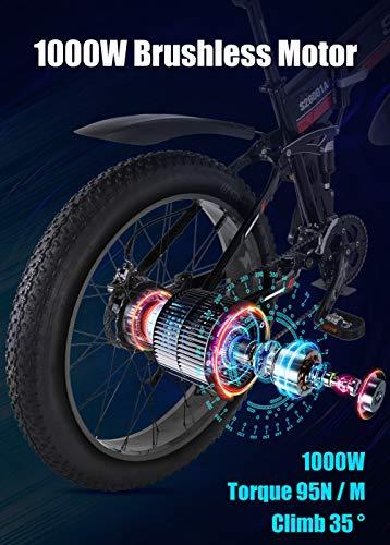 51BzAcUGOLL - GUNAI Elektro Fahrrad 1000W 48V Llithium Batterie Mountain E-Bike mit Hydraulische Scheibenbremsen