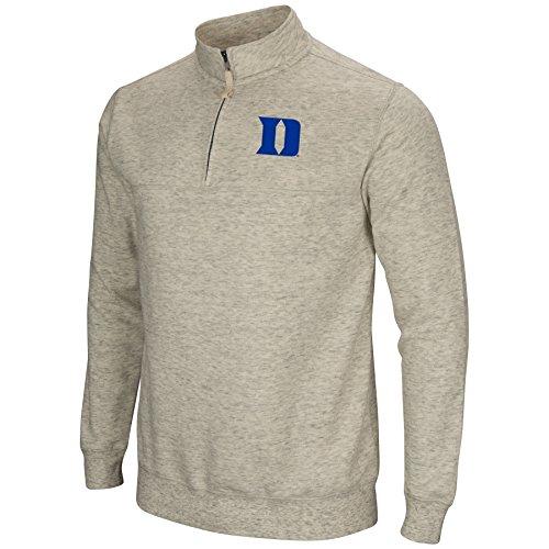 Colosseum NCAA Duke Blue Devils Men's Stapler Heather Grey 1/4 Zip (Medium)