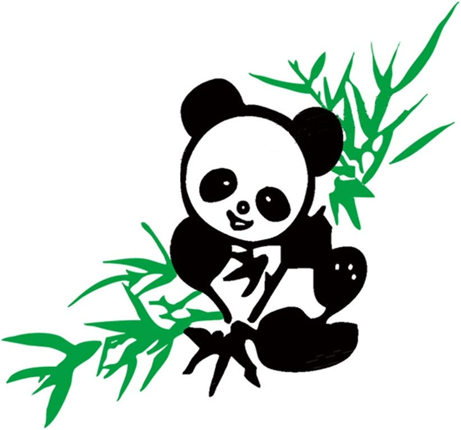 Bamboo Panda Crystal Texture Acrylic 3D Stereo Effect Wall Sticker Room Decoration (color   Green, Size   80cm×75cm)