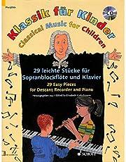 Classique pour enfants–arrangés pour flûte à bec soprano–PIANO–avec CD [Partitions/sheetm usic]