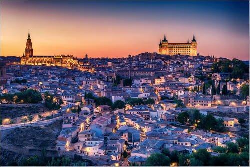 Posterlounge Cuadro de metacrilato 30 x 20 cm: Aerial Top View of Toledo de Editors Choice