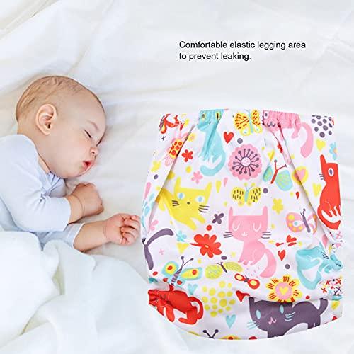 Meiyya Pañal para Nadar para bebés, pañal Reutilizable para bebés práctico y cómodo para Llevar al bebé para Sacar a tu bebé(BL010)